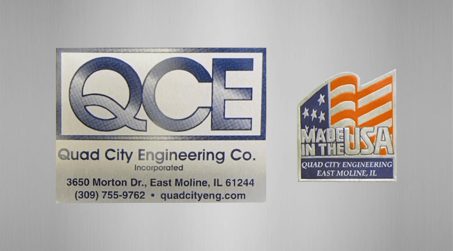 QCE Logo/Made In USA